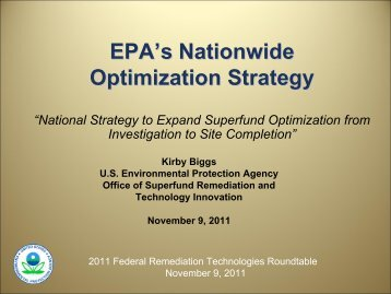 EPA's Nationwide Optimization Strategy - Federal Remediation ...