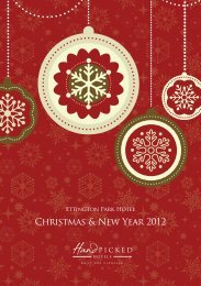 Ettington Park Hotel Christmas & New Year 2012 - Hand Picked Hotels