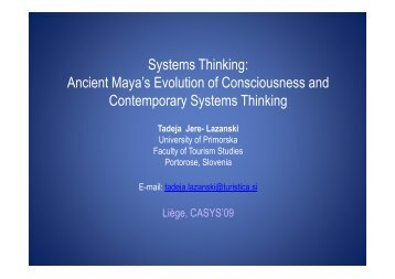 Systems Thinking: Ancient Maya's Evolution of ... - Turistica