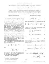 Approximation for nonlinear dynamics of trapped Bose-Einstein ...
