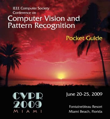 Final CVPR 2009 Pocket Guide available for download (2MB PDF)