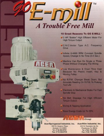 10 Great Reasons To Buy E-mill