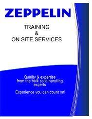TRAINING & ON SITE SERVICES - Zeppelin Systems USA, Inc.