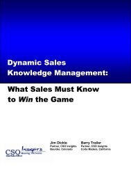 What Sales Must Know to Win the Game Dynamic Sales ... - OutStart