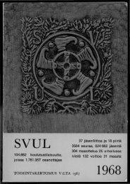 TOIMINTAKERTOMUS V:LTA 1967