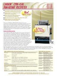 Instrument Description - Cannon Instrument Company