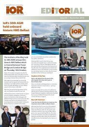 Editorial Newsletter Nov 2010.pdf - Institute of Roofing