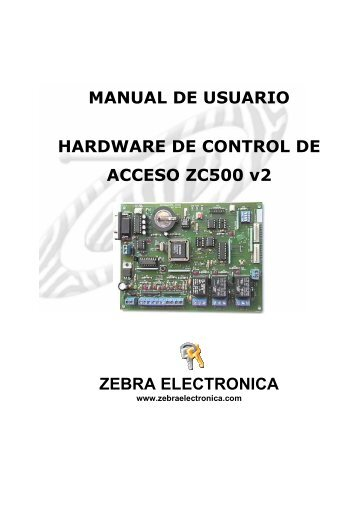 MANUAL ZC500_v2 hardware_Abr-07 - Zebra Electronica