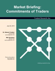 Market Briefing: Commitments of Traders