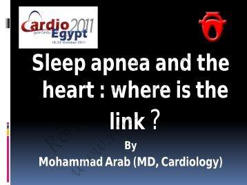 Cardiovascular Consequences of Sleep Apnea - cardioegypt2011