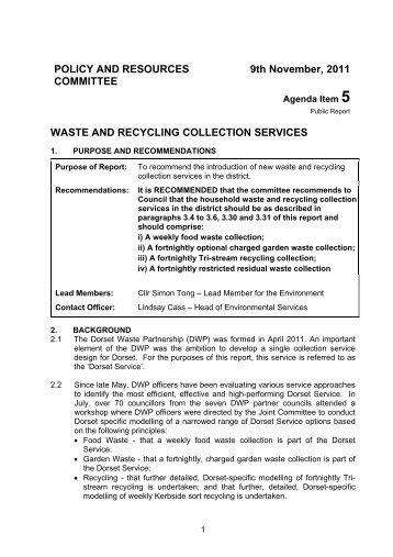 waste and recycling collection services