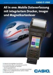 Mobile Datenerfassung mit integriertem Drucker, Imager ... - casio-b2b