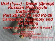 Part 2B: PZ-24 and PZ-28 Carburetor Assembly and Jet Drilling