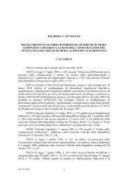 1 DELIBERA N. 607/10/CONS REGOLAMENTO IN MATERIA DI ...