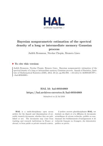 Bayesian nonparametric estimation of the spectral density of a long ...