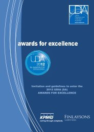 Awards booklet - UDIASA - Urban Development Institute of SA