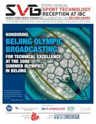 BEIJING OLYMPIC BROADCASTING - Sports Video Group