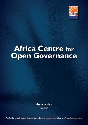 Download Full 2009-2013 Strategic Plan Here - Africa Centre for ...