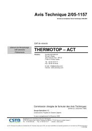 Avis Technique 2/05-1157 THERMOTOP – ACT - CSTB