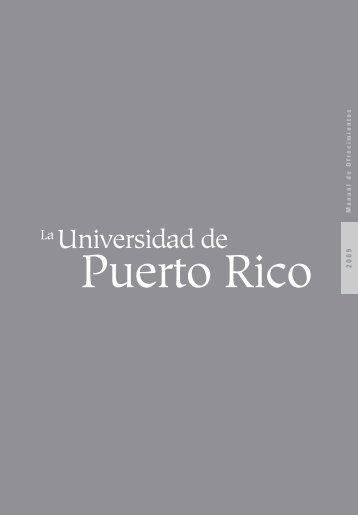 Manual de Ofrecimientos 2009 - UPR- Portal de Estudiantes