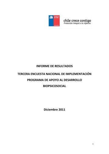 INFORME DE RESULTADOS TERCERA ENCUESTA NACIONAL ...