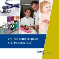 jaarverslag 2010 - Nederlandse Vereniging voor Radiologie