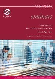 seminars - Field Court Chambers
