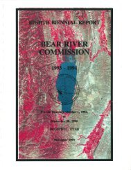 Report No. 8, 1993-1994 - Bear River Commission