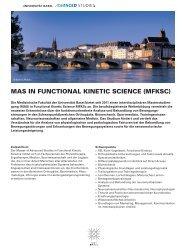 mas in functional kinetic science (mfksc) - Bertram-Seminare, Die ...