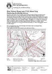 Hans Nielsens Hauges gate 37-43, Sinsen Torg Planforslag til ...