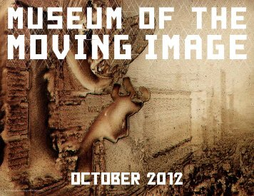 download the october 2012 calendar - Museum of the Moving Image