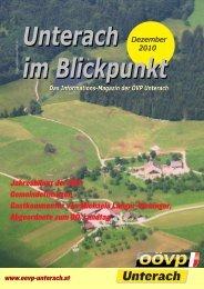 Ausgabe Dezember 2010 - (ÖVP) Unterach am Attersee
