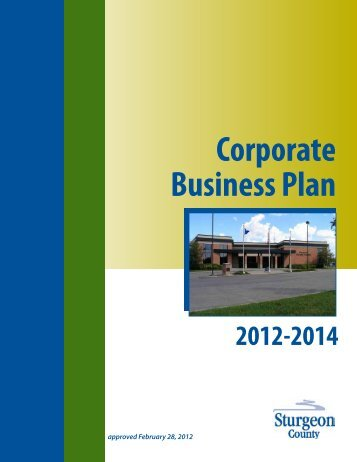 2012 Corporate Business Plan - Sturgeon County