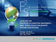 lackland afb inventory & condition assessment – base sewer ... - E2S2