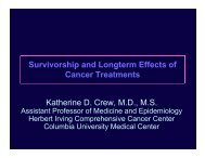 Survivorship and Longterm Effects of p g Cancer Treatments ...