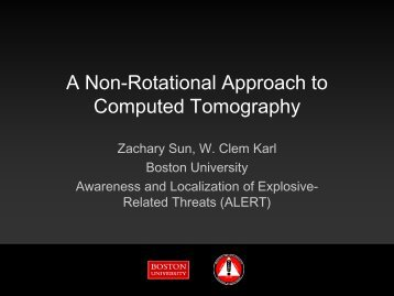 A Non-Rotational Approach to Computed Tomography