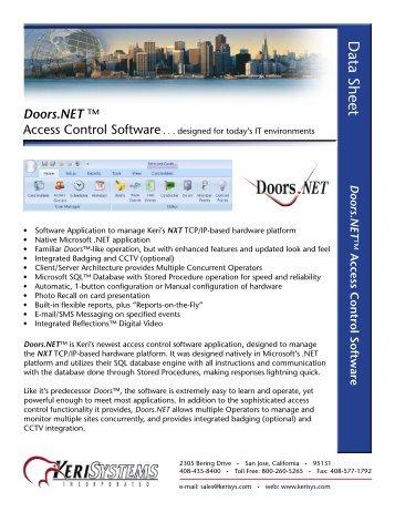 Doors.NETâ\u201e¢ Data Sheet - Keri Systems
