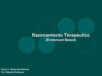 Razonamiento Terapéutico (Evidence Based)