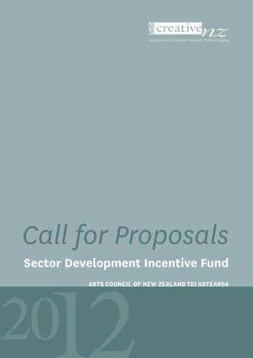 Sector Development Incentive Fund - Creative New Zealand