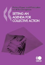 Setting an Agenda for Collective Action - Organisation for Economic ...