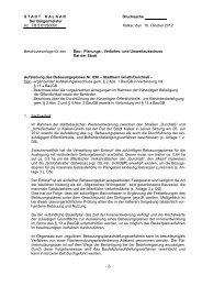 Aufstellung des Bebauungsplanes Nr. 090 – Stadtkern ... - in Kalkar