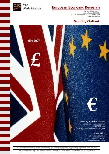 European Economic Research Monthly Outlook - CIBC World Markets