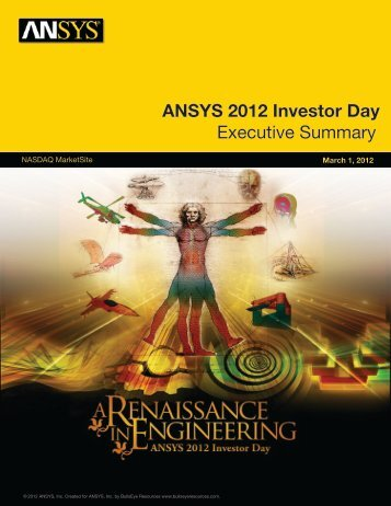 2012 Investor Day Executive Summary - Investor Relations