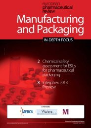 2 Chemical safety assessment for E&Ls for pharmaceutical ...