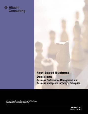 Fact Based Business Decisions - Hitachi Consulting