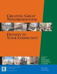 Creating Great Neighborhoods: Density in Your Community - Local ...