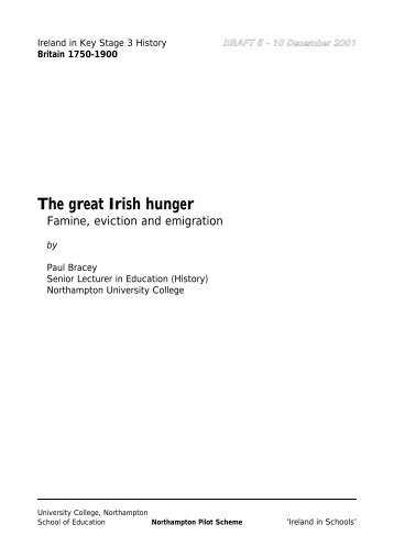 The great Irish hunger - Ireland in Schools