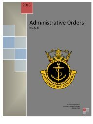 Administrative Orders - The Navy League of Canada