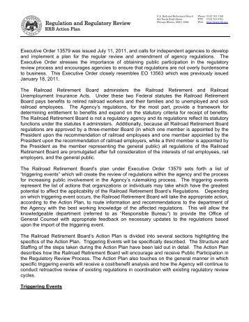 Executive Order 13579 - U.S. Railroad Retirement Board