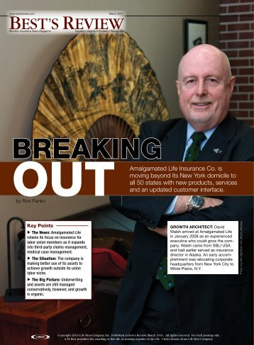 Breaking Out - Best's Review - Amalgamated Life and Affiliates